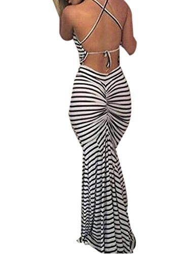 Blooming Jelly Bodycon Backless Stripes product image