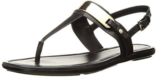 ALDO Women's Nigolian Flat Sandal, Black Synthetic, 8.5 B US