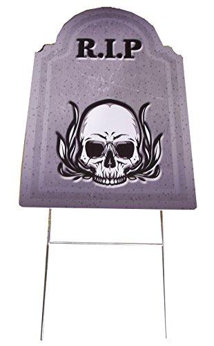 Aahs Engraving Halloween Large Tombstone Prop (RIP Skull)
