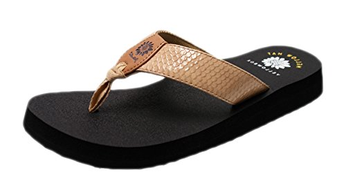 Bountiful Box (Yellow Box Women's Bountiful Flip Flop, Natural, 7.5 M US)