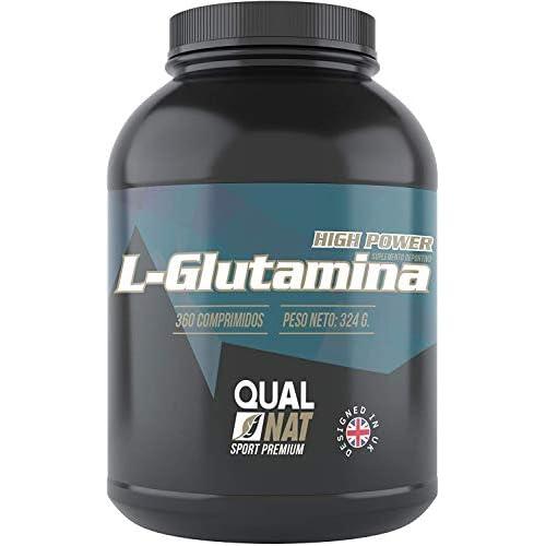 L-Glutamina |Fuerza y Potencia|Suplemento Deportivo | 360 comprimidos-Qualnat a buen precio