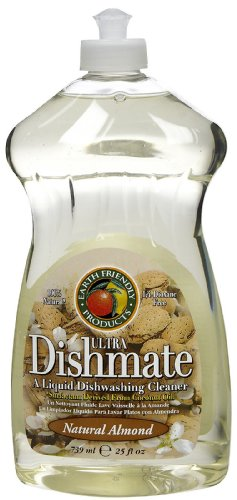 Earth Friendly Ultra Liquid Dishmate Natural Almond -- 25 fl oz, Pack of 2 Dishmate Natural