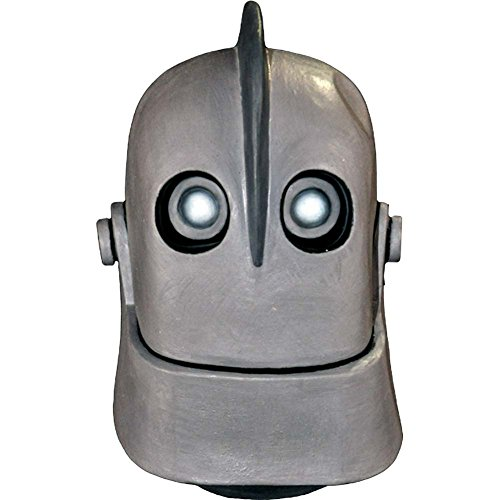 Men's Halloween Full Face Iron Giant Robot Mask, Gray (Giant Masks Halloween)