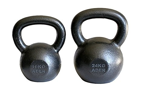 Ader Premier Kettlebell Set- (16, 24kg) w/ FREE DVD by Ader Sporting Goods