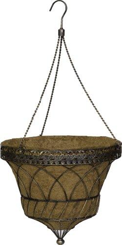 Parasol Hanging - Gardman R570 Victorian Parasol Hanging Basket with Chain, Antique Copper, 14