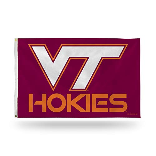 (Rico Industries NCAA Virginia Tech Hokies 3-Foot by 5-Foot Single Sided Banner Flag with Grommets)