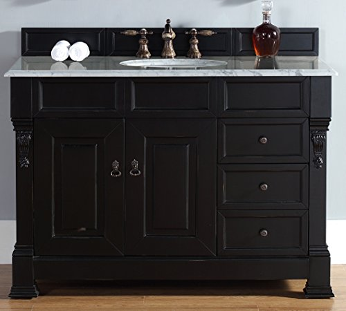 2-Drawer Single Vanity with Carrera White Marble Top