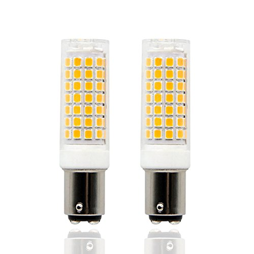 BA15D LED Light Bulb,Dimmable,7.5W,110-120V Input, Double Contact Bayonet Base, (75W Halogen Bulbs Equivalent), 360 Degree Beam Angle (Pack of 2) (Warm ()