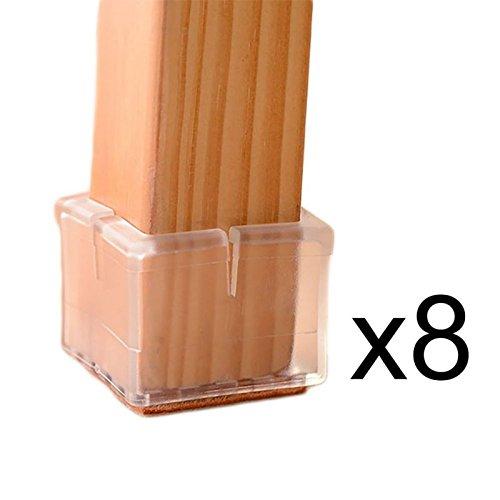 - Chair Cap - 8 X Square Chair Leg Caps Feet Protector Furniture Table Covers Rubber - Superhero Slipcovers Legs Slider Nonslip 1/4 Iron 1/2 38 7/8