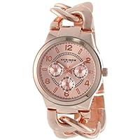 Akribos XXIV AK531RG Ultimate Cuarzo Multifunción Reloj de pulsera de cadena de tinte de tono rosa para mujeres