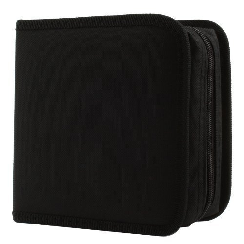 Great for Dj and Video House. Cd Wallet, 24 Capacity Cd Holder Case Square Zipper in Assorted Color for Cd DVD Storage, Made with Nylon Material. - PrimeTrendz - Holder Square Cd