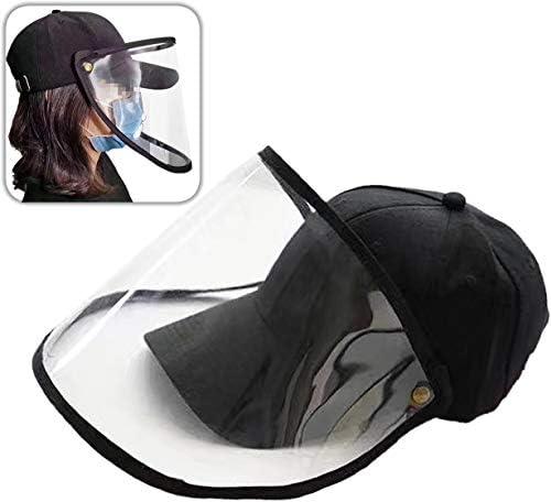 [スポンサー プロダクト]SJOL シールド フェイスカバー ガード 付き 保護 帽子 キャップ 取り外し 調節可能 サンバイザー… (ブラック)