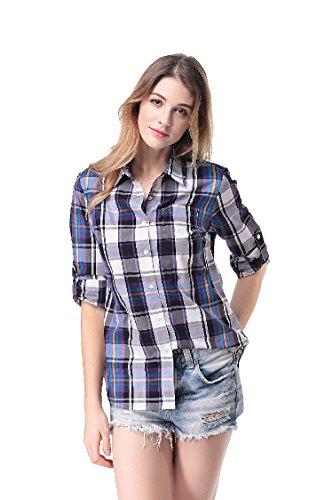 Pau1Hami1ton Womens Casual Long Sleeve Blouses
