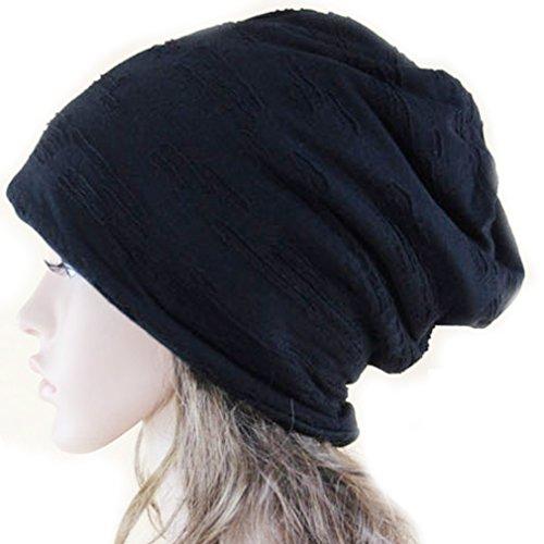 Hat Bowler Velvet (Thenice Neutral Winter Cap Fashion Double Plus Velvet Knit Hat (Black))