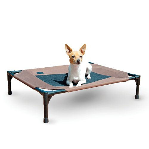 K&H Pet Products Original Pet Cot Elevated Pet Bed Medium Chocolate/Mesh 25