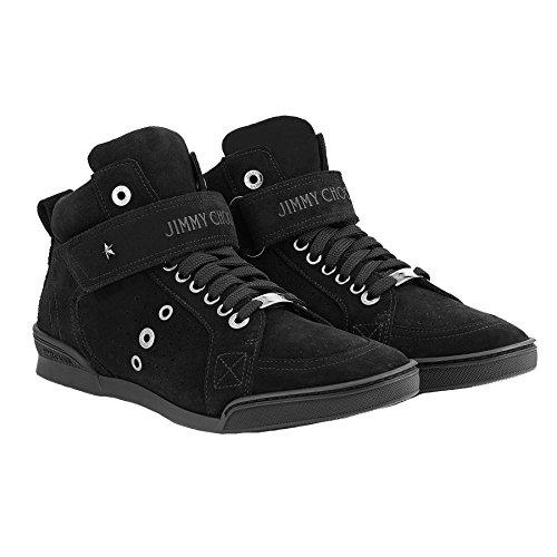 Jimmy Choo Hi Top Sneakers Uomo LEWISDSUBLK Camoscio Nero