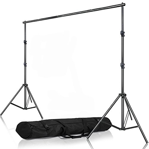 Selens Muslin Seamless Paper Background Backdrop Support System Kit Adjustable Stand & Crossbar with Carrying Bag for Photo and Video Studio, 6.56ft x 6.56ft / 2M ()