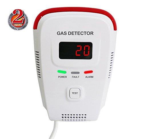 Natural Gas Detector/Home Gas Leak Alarm/Tester Sensor Combustible Gases: Propane,Methane,CH4, LPG,Butane,Coal Gas/Human Voice/LED Display/Explosive Gas Detector
