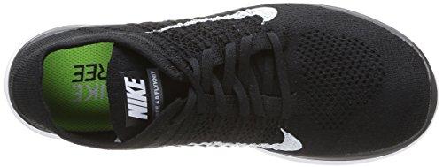 Nike Free 4.0 Flyknit, pantofole da uomo Black/White Dark Grey