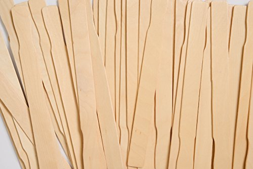 Stirrer Sticks, Henry's Best Paint Sticks 12 in. Bulk 100 Sanded Mixing Sticks, Garden Markers, Tough to Mix Epoxy, Resin, Silicone, Wax; Stir Stick Unrivaled Quality as Wood Craft Sticks, USA