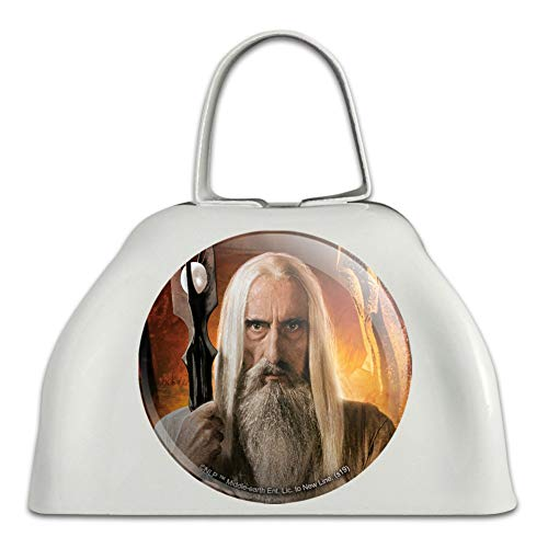 The Lord of the Rings Saruman Character White Metal Cowbell Cow Bell Instrument (Lord Of The Rings In Concert Usa)