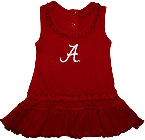 Creative Knitwear University of Alabama Crimson Tide Ruffled Tank Top Dress with Bloomer Set, Crimson, 12 ()