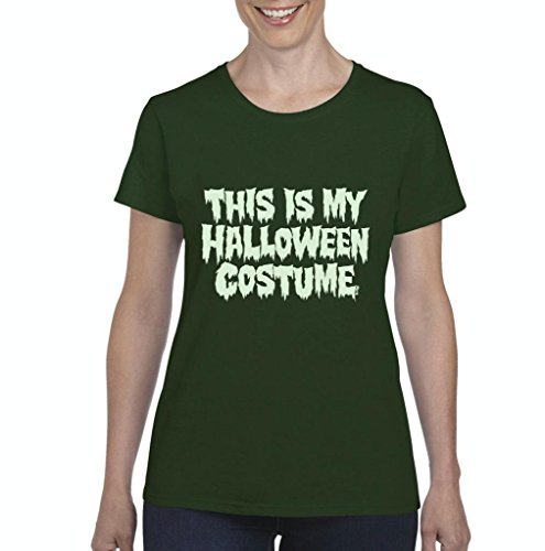 Xekia This is My Halloween Costume Fashion Party People Best Friends Gift Couples Gift Women's T-shirt Tee Clothes Large Military -