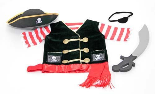 Premier Pirate Costumes (Melissa & Doug Pirate Costume Role Play Set 14848)