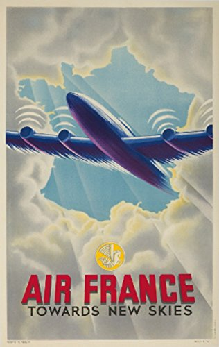air-france-towards-new-skies-vintage-poster-france-c-1946-12x18-collectible-art-print-wall-decor-tra