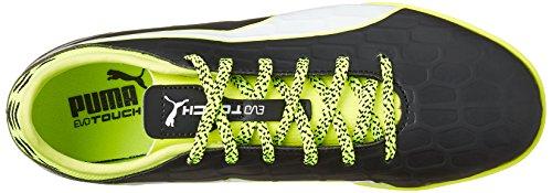 Puma Evotouch 3 IT Jr, Botas de Fútbol Unisex Niños Negro - Schwarz (black-white-safety yellow 01)