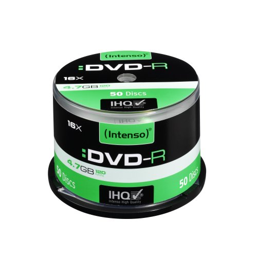 Intenso DVD-R 16x Speed 50er Spindel DVD-Rohlinge