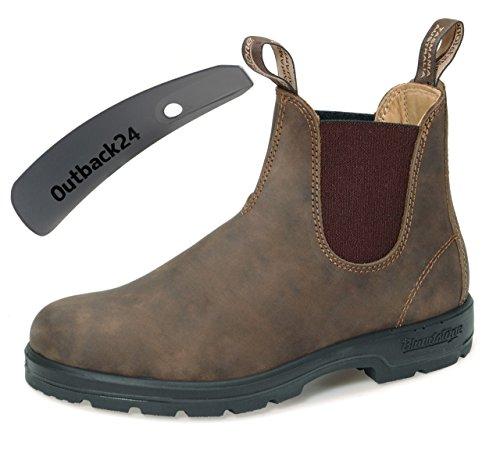 Rustic Unisex Schuhlöffel Style Comfort Nubukleder Stiefelette 585 Boots Brown Blundstone gqO0n