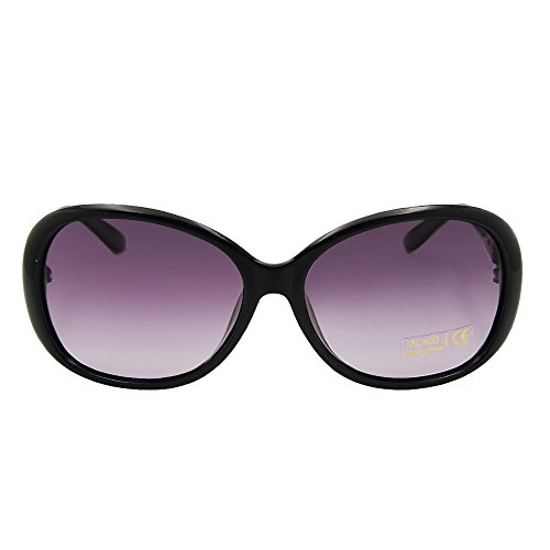 VeBrellen Luxe Transparent Polarized Lunettes de soleil Retro Lunettes Lunettes Square Frame (M, Purple)