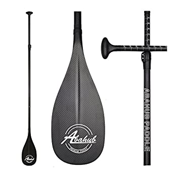 Image of Abahub 3-Piece Adjustable Carbon Fiber SUP Paddle Carbon Shaft + Carrying Bag for Stand Up Paddleboard Paddles