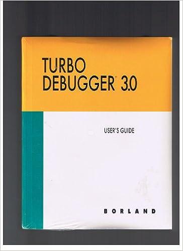 Turb Debugger 3.0, Turbo Profiler 2.0, Turbo Assembler 3.0: Amazon.com: Books