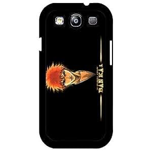 Samsung Galaxy S3 I9300 Phone Case,Black background cartoon custom design mobile phone shell(Black Crust)