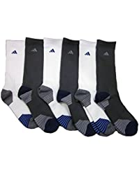 Mens 6 Pack Adidas Athletic Crew Socks