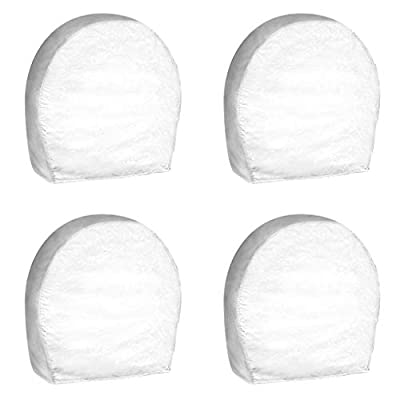 PrimeShield Set of 4 RV Wheel Cover, for 24 Inches -26 Inches Wheel Diameter, White: Automotive