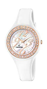 Calypso K5567/2 - Reloj de mujer de cuarzo, correa de plástico color blanco