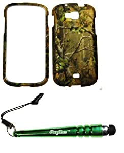 FoxyCase(TM) FREE stylus AND For Samsung Galaxy Axiom R830 Admire 2 (Cricket US Cellular) Rubberized 2D Design Evergreen Pine Tree Hunter Camo Case Cover Protector
