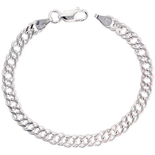 Sterling Silver Washer - 4mm Sterling Silver Charm Link Bracelet 7'' 2339 - Silver Jewelry Accessories Key Chain Bracelet Necklace Pendants