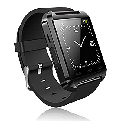 2015 New U Watch Bluetooth Smartwatch WristWatch Phone Touch Screen Mate For Android (Full functions)(Black)