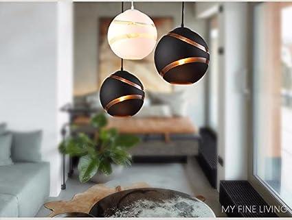 Il design nordico luce pendente palla di vetro lampadario sala da