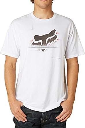 Fox Racing Mens Deflector Short-Sleeve Shirt Large Optic White
