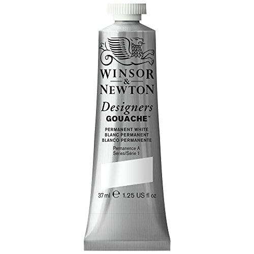 Winsor & Newton Designers Gouache Tube, 37ml, Permanent White (Winsor & Newton Designers Gouache)