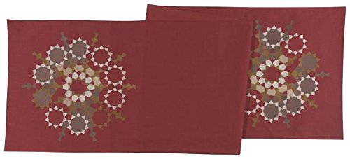 Table Runner Solar Embrodery in 100 % Cotton