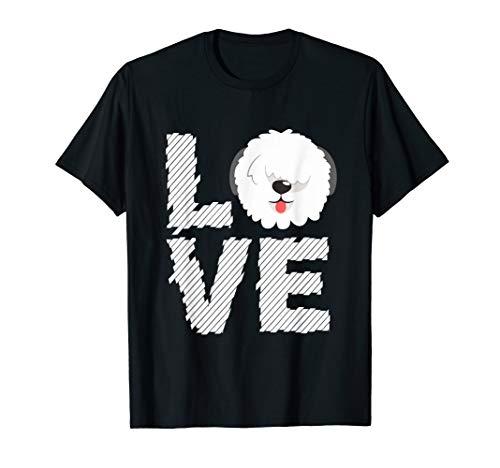 I Love Old English Sheepdog T-Shirt Dogs Lovers Gift Shirt