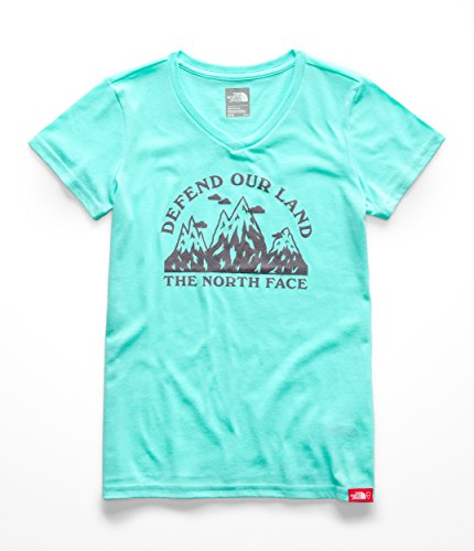 The North Face Girls S & S Bottle Source Tee - Mint Blue - L ()