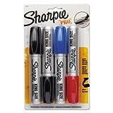 Sharpie 15674PP King Size Markers Chisel Tip Blue/Red/Black 4/Set
