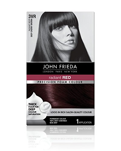 John Frieda Precision Foam Colour, Deep Cherry Brown 3VR (Best Foam Hair Color)